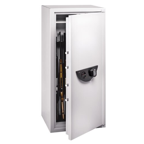 Ranger Grade I eight gun security cabinet fitted with biometric fingerprint lock