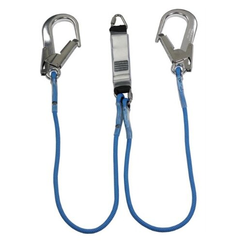 Rope Lanyard - Triangular Link and 2 x Large Double Action Hooks