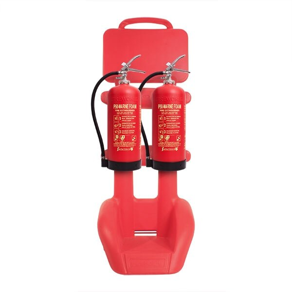 Rotationally Moulded Double Extinguisher Trolley