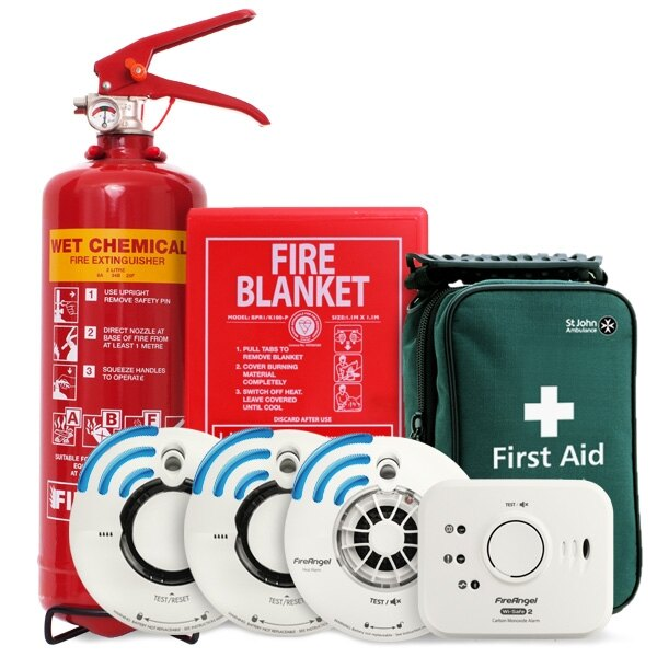 Safelincs Home Fire Safety Kit with Radio Interlink