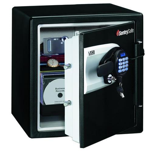 sentry qe4531 fireproof safe for digital media with usb. Black Bedroom Furniture Sets. Home Design Ideas
