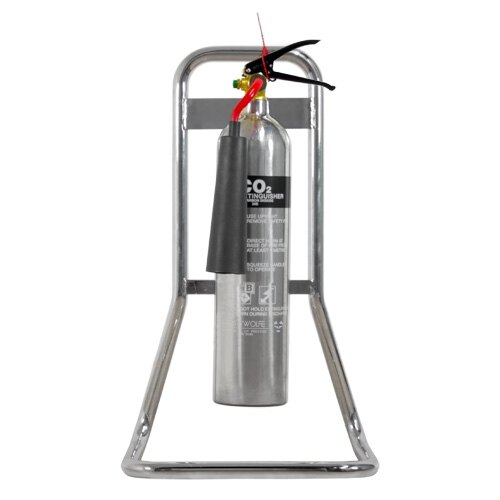 Single Chrome Extinguisher Stand