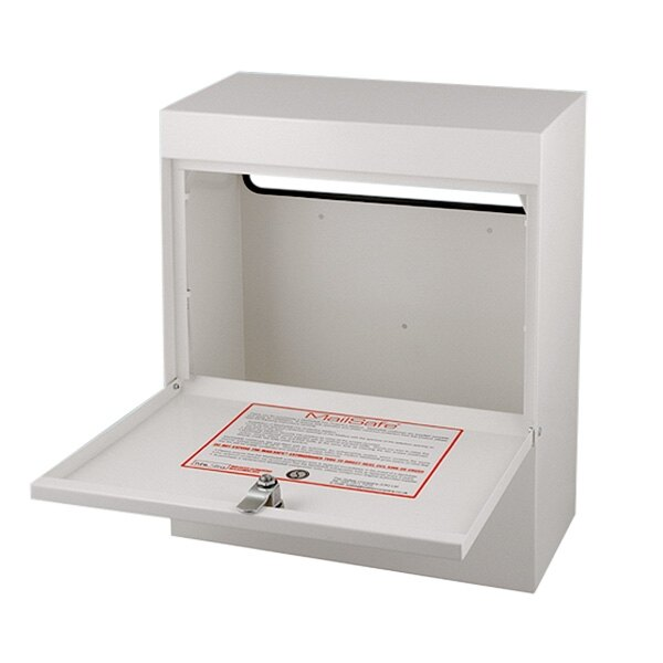 The Small Business Mailbox is fitted with a key lock and supplied with two keys