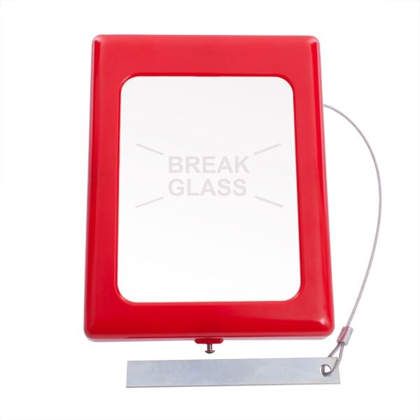 Break Glass Keybox with Printed Glass (large)