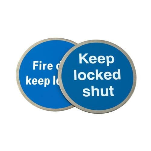 Self-Adhesive Metal Fire Door Signs