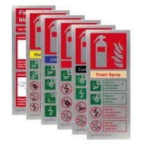 Image of the Stainless Steel Fire Extinguisher ID Signs