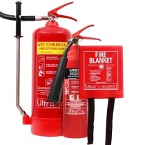 Image of the 6ltr Wet Chemical, 2kg CO2 Fire Extinguisher & Fire Blanket Special Offer