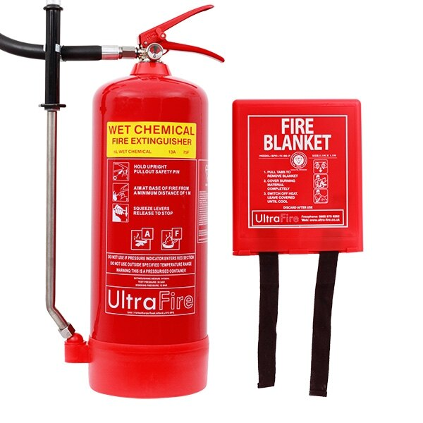 6ltr Wet Chemical Fire Extinguisher & Fire Blanket Special Offer