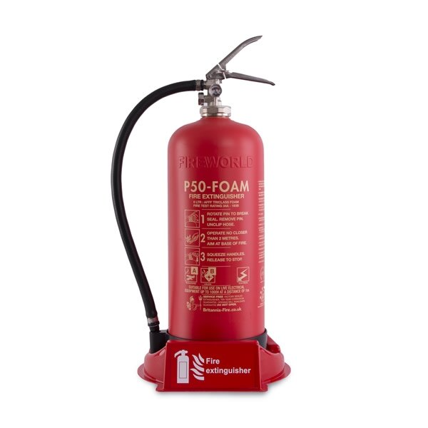 Universal fire point suitable for 2kg CO2 or up to 9kg/9ltr extinguishers
