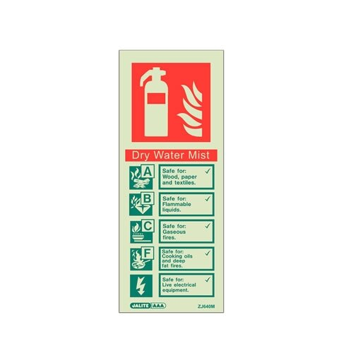Fire Extinguisher Wall Signs from Jalite