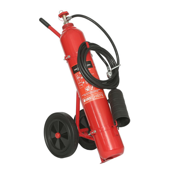 Image of the 10kg CO2 Wheeled Fire Extinguisher