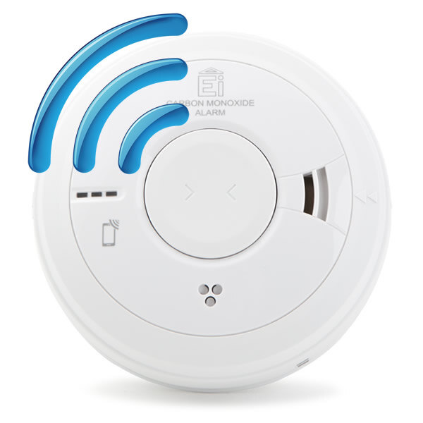 Image of the Mains Radio-Interlinked Carbon Monoxide Alarm with Lithium Back-up - Ei3018RF
