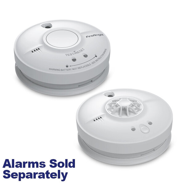 Image of the FireAngel Mains Powered Alarms with 9V Alkaline Back-up Battery W1-R Series