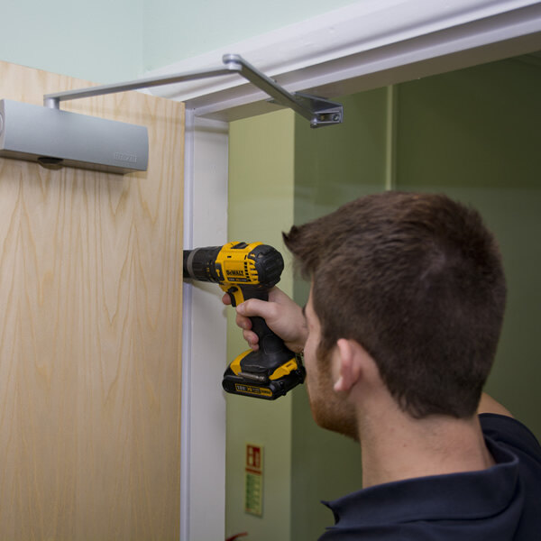 Image of the Fire Door Installation