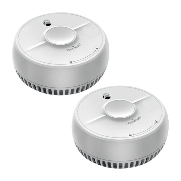 Image of the 9V Optical Smoke Alarm with Test and Hush Button - FireAngel SB1-TPR Twin Pack