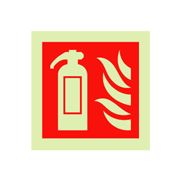 Image of the Self-Adhesive Vinyl Fire Extinguisher Sign