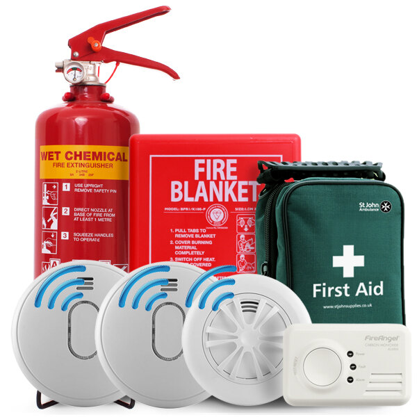Image of the Safelincs Home Fire Safety Kit with Radio Interlink