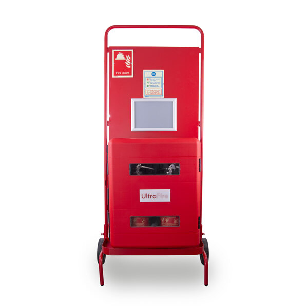 Image of the UltraFire Double Cabinet Site Stand with Optional RF Site Alarm