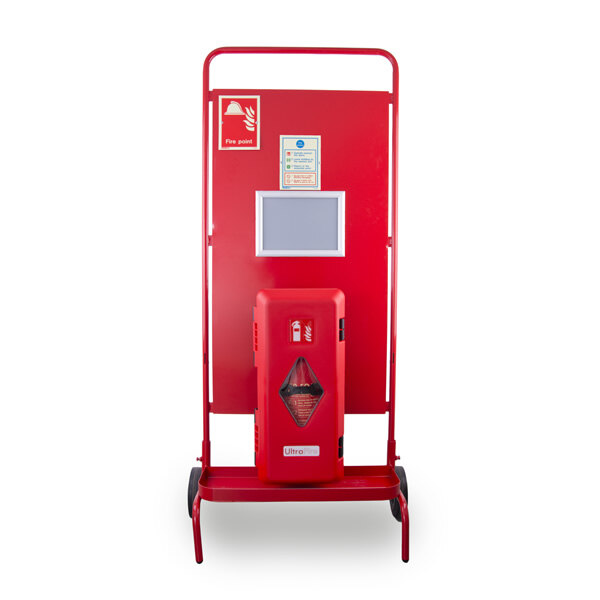 Image of the UltraFire Single Cabinet Site Stand with Optional Push Button or Call Point Site Alarm