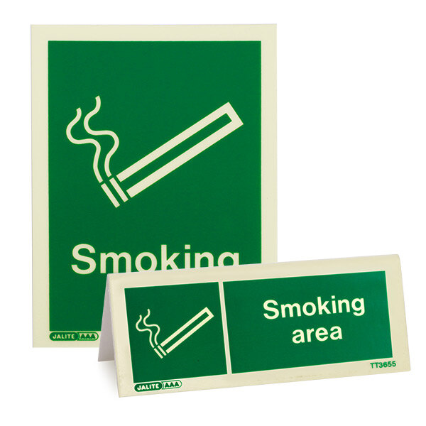 Image of the Designated Smoking Area Signs