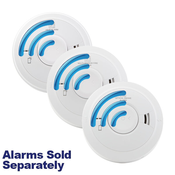 Image of the Mains Powered Smoke and Heat Alarms with Lithium Back-up Battery Ei3000RF Series