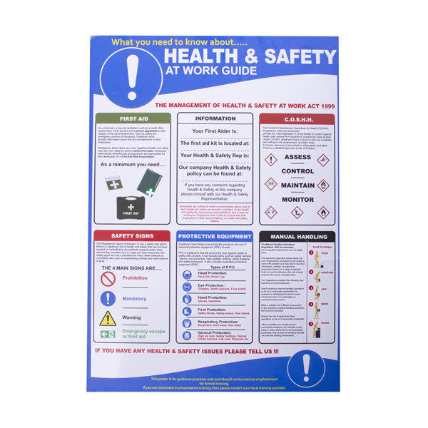 Image of the Health and Safety at Work Poster