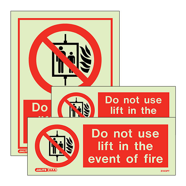 Image of the Lift Prohibited Signs from Jalite