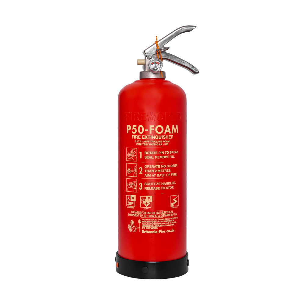 Image of the Service-Free 2ltr Foam Fire Extinguisher - Britannia P50