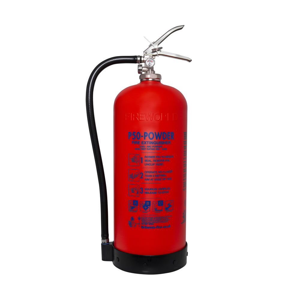 Image of the Service-Free 9kg Powder Fire Extinguisher - Britannia P50