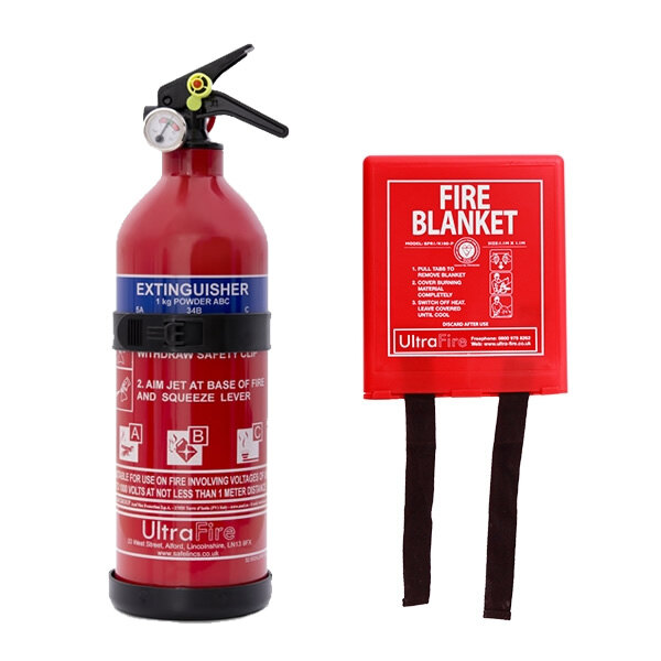 Image of the 1kg Powder Fire Extinguisher & Fire Blanket Special Offer