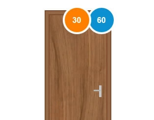 Fire rated wood door penetration