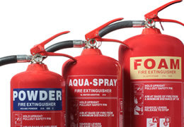 Our full range of fire extinguishers