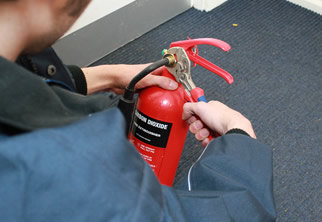 Fire Extinguisher Servicing without tie-in or contract. All consumables included in our clearly displayed prices
