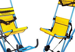 Evacuation chairs for evacuation of immobile persons