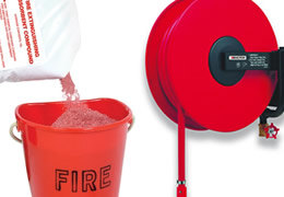 Automatic and manual fire hose reels and hose reel accessories