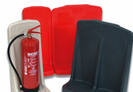 Fire extinguisher stands suitable for a range of applications