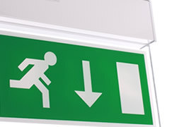Our range of LED fire exit signs