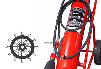 Fire extinguishers for ships and marine applications