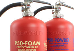 Britannia Fireworld Fire Extinguishers require no extinguisher engineer maintenance or servicing, saving you money