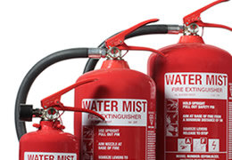 E-Series Water Mist fire extinguishers only available from Safelincs