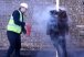 Water mist extinguisher clothing fire demonstration